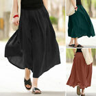 Women Casual Flare Oversize Ladies Pleated Skirt Evening Long Maxi Skirt US