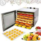 600W Food Dehydrator Machine, 6 Layers ALL Stainless Steel, 12H Adjustable Timer