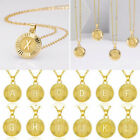 26 Letters A-z Gold Women Pendant Necklace Chain Jewelry Gifts Wholesale New