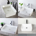 Lordear Rectangle White Bathroom Vessel Vanity Sink Basin Above Counter Ceramic