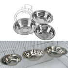 Stainless Steel Pet Hanging Bowl Feeding Dog Cat Bird Parrot Food Water Cage QZ