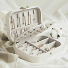 Portable Jewelry Box Organizer Leather Case for Necklace Earring Rings Storage