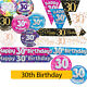AGE 30th - Happy 30th Birthday Party Decorations (Oaktree) Banners & Bunting