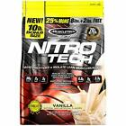 Whey Protein Powder, MuscleTech Nitro-Tech Whey Protein Isolate & Peptides,10 lb