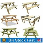 Wooden Picnic Table And Bench Set Furniture Garden Outdoor Patio Pub Desk Seat
