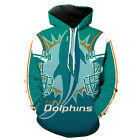 2021 New Miami Dolphins Hoodie Football Pullover Sports Hooded Sweatshirt Jacket