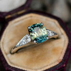 Women Jewelry Pretty Emerald 925 Silver Rings Wedding Engagement Rings Size 6-10