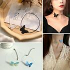 2021 Fashion Sweet Butterfly Necklace Pendant Clavicle Chain Women Girls Jewelry