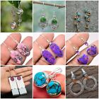 Fashion 925 Silver Drop Earrings For Women Turquoise Jewelry Gift A Pair/set