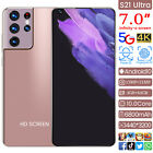 """S21 Ultra 7.0"""" Face ID 5G Smart phone Android 10 4 64GB Unlocked 6800mah Gift"""