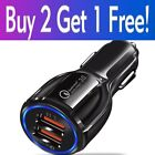 2 3 4 Port USB Fast Car Charger Adapter For iPhone Samsung Android Cell Phone LG