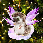 Hedgehog and wings gift for her gift for him gift for Hedgehog lover ornament