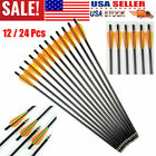 """17"""" Fiberglass Arrows OD8mm Crossbow Bolts Removable Tips For Longbow/Recurvebow"""