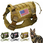 Tactical Dog Harness With Handle Leash Puppy Working Training Vest Adjustable