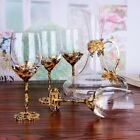 Red wine glass cup Gold Retro goblet Lead-free crystal cups champagne glasses cu