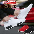 Casual Black Men's Slip On Sneakers Outdoor Athletic Running Jogging Shoes Gym