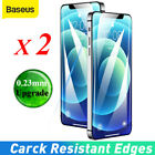 2x Baseus 0.23mm Screen Protector Full Cover Tempered Glass For Iphone 13 12 Pro