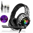 RGB LED 3.5mm Gaming Headset Noise Reduction Mic Headphone for Xbox one/PS4/PC