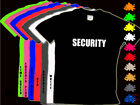 SECURITY Childs T Shirt Black or White Ages 3-14yrs