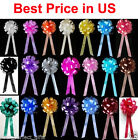 "Внешний вид - 10 pcs 8"" WEDDING PULL PEW BOWS BRIDAL SHOWER DECORATION CHAIR TABLE CENTERPIECE"