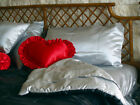 Bridal Satin Comforter  REVERSIBLE -  Twin, Full, Queen, King size QUILTED