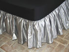 Cal King Bridal Satin Bedskirt