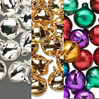 Jingle Bells 10mm Craft Gold Silver Jewel Tone Colors Holiday Lot of 100
