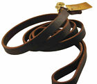 "Dean & Tyler 3/4"" Leather Braided Leash Sizes Colors"