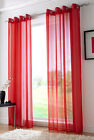 ring top eyelet voile panel curtain red