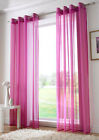 ring top eyelet voile panel curtain cerise