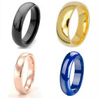 1 Black, Gold, Rose Gold, Blue Plate Dome Titanium Ring