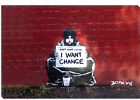 Banksy Keep Your Coins. I Want Change Canvas Art Print