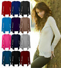 New Ladies Boyfriend Cardigan Womens Casual Drop Pocket Long Sleeve Cardi 8-14