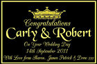 PERSONALISED WEDDING DAY BOTTLE LABEL CHAMPAGNE BL14