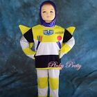 Buzz Lightyear Hero Kid Boy Fancy Party Costume Mask Outfit Set Child 2-7y FC024
