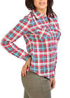 Womens Fitted Printed Check Flannel Checked Button Shirt Top Ladies Women's New