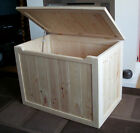 BEAUTIFUL HAND CRAFTED PINE WOODEN TOY BOX,  BLANKET BOX, CHEST
