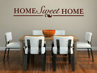 ' Home Sweet Home ' Large Quote Amazing Vinyl Wall Stickers High Quality NEW UK