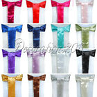 50PCS New Satin Chair Sashes Bows 15cm*275cm Wedding Party Decorations colors
