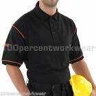 WORKTOUGH Work Wear Polo Shirt Poloshirt Short Sleeve Mens Black S M L XL XXL