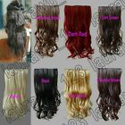 20 in. Long Wavy 5 Clips On Hair Piece Extension 51cm All Color Free Shipping 23