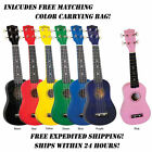 DIAMOND HEAD SOPRANO UKULELE W/BAG - VARIOUS COLORS - FREE SHIPPING