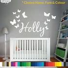 Personalised Name Wall Sticker Children Bedroom, Chose Font Colour And Theme!
