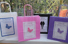 PERSONALISED GIFT BAG WEDDING BRIDESMAID BEST MAN USHER PURPLE PINK WHITE BLACK