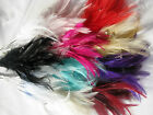 6 bunches of wired diamante feathers- flowers, crafts, hats, corsages 12 colours