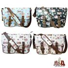 Authentic LYDC Ladies Oilcloth Triple Cupcakes Saddle/Cross Body/Messenger Bag