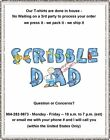 T-shirt - Your Name in -- SCRIBBLE DAD, I'm the Dad