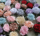 200/40pcs UPick Ribbon Flower carnation Appliques sewing/craft/wedding lots E36