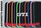 VW GOLF MK1 CABRIOLET tailored car mats LEATHERETTE BINDING+SILVER GTI BADGE V03