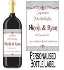 Personalised Bottle Label Wedding Gift Favour Wine, Spirit Or Champagne WDBL 9